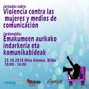 Violencia contra las mujeres y medios de comunicación – Jornada 25/10/2018