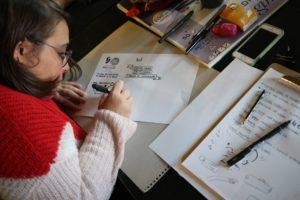 las artistas de Femgarabat ayudaron a ilustrar la jornada