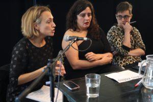 Loreto Larunbe, Irantzu Vrela y Andrea Momoito