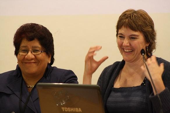 Verónica Castellanos y María Luisa Delgado