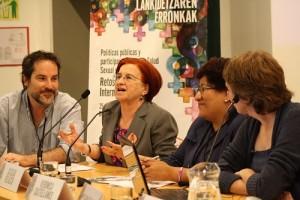 Javier Gil, Casilda Velasco, Verónica Castellanos y María Luisa Delgado