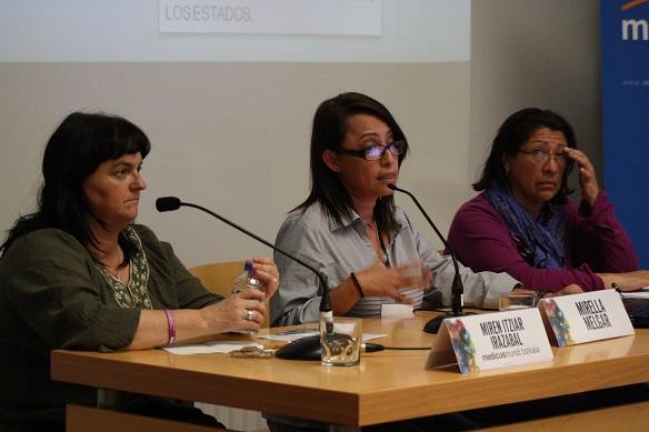 Itziar Irazábal, Mirella Melgar y Betty Porras