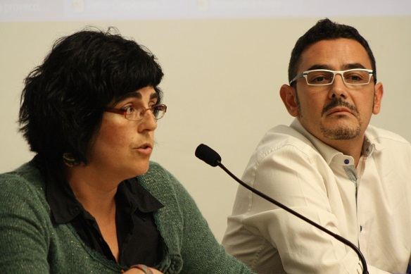 Edurne Bengoetxea y Sergio Galán