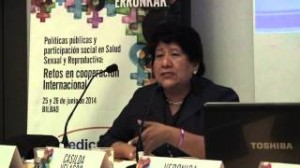 Eztabaida-mahaia: La prestación de derechos socio-sanitarios desde el sistema de salud: Verónica Castellanos