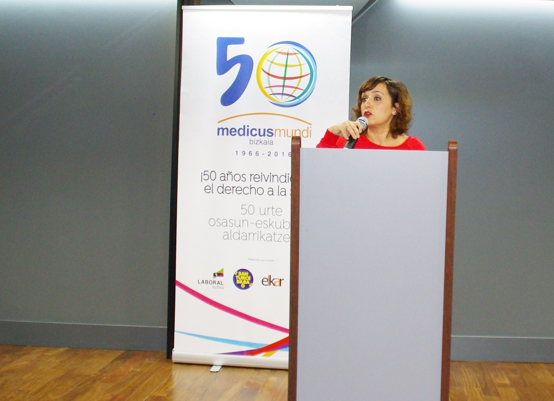 María Guijarro, durante su intervención