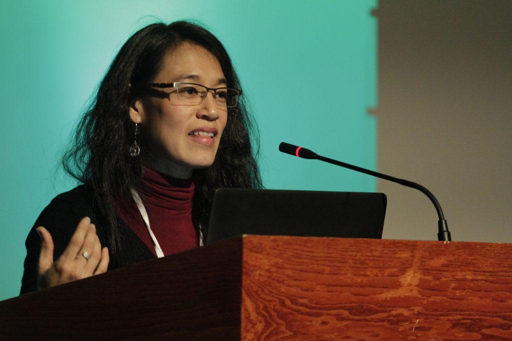 Lucrecia Hernádez Mack durante su presentación