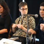 Irantzu Vrela, Andrea Momoito y Joana Etxano